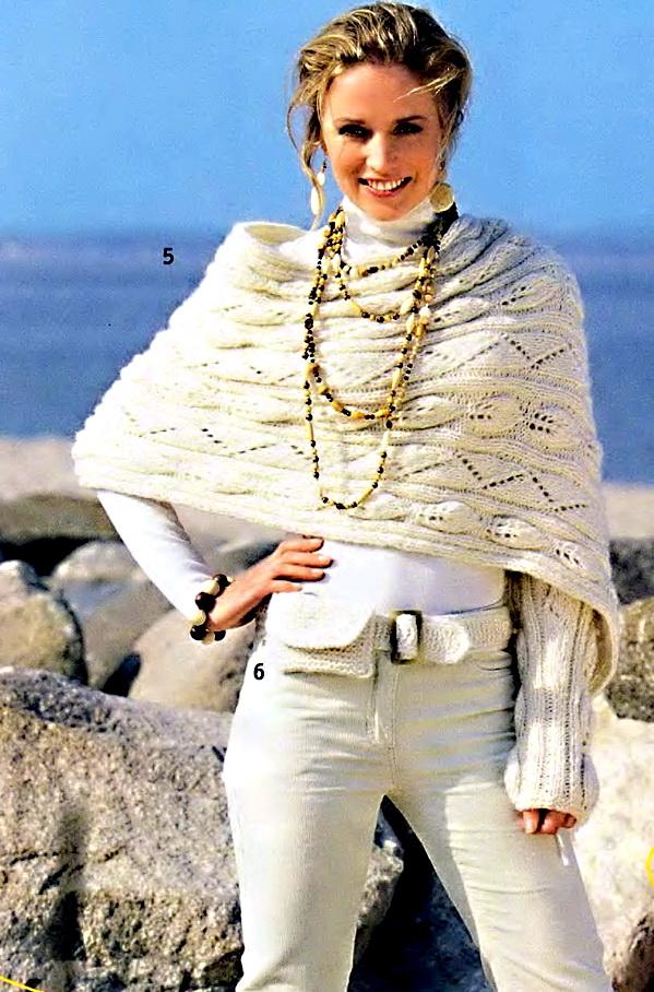 вязаного на спицах шарфа с