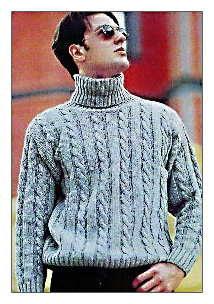 Модели вязания свитеров для мужчин