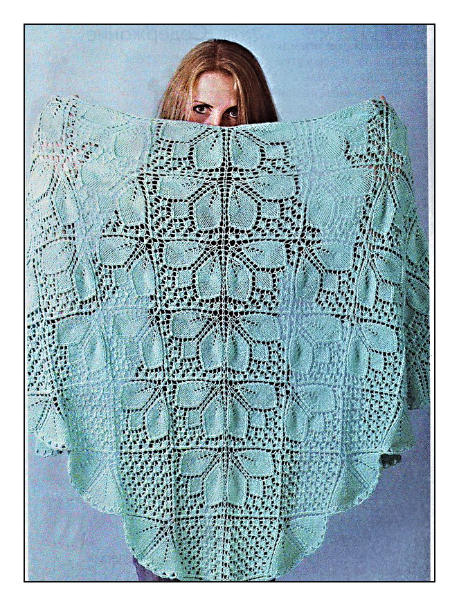 показать схему вязания спицами ажурные вязания