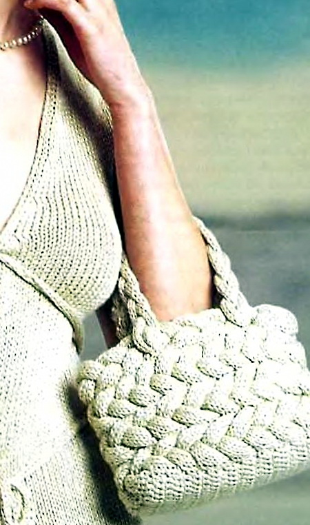 Вязание спицами. Сумка состоит