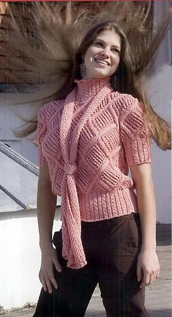 Модель свитера с короткими