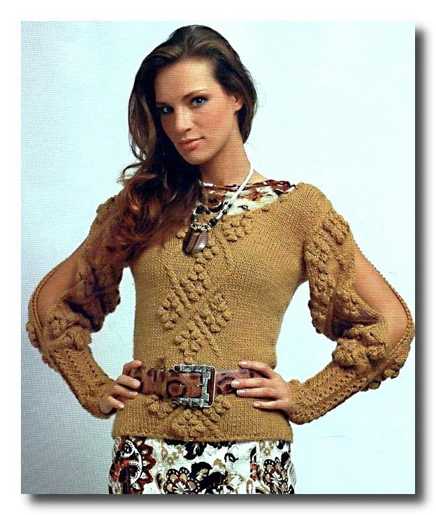 Оригинальный свитер с ажурными