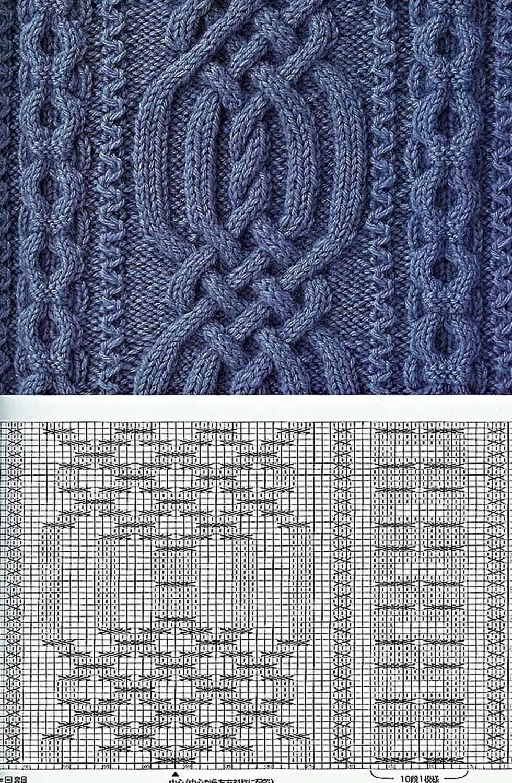 вязание спицами образцы схем.