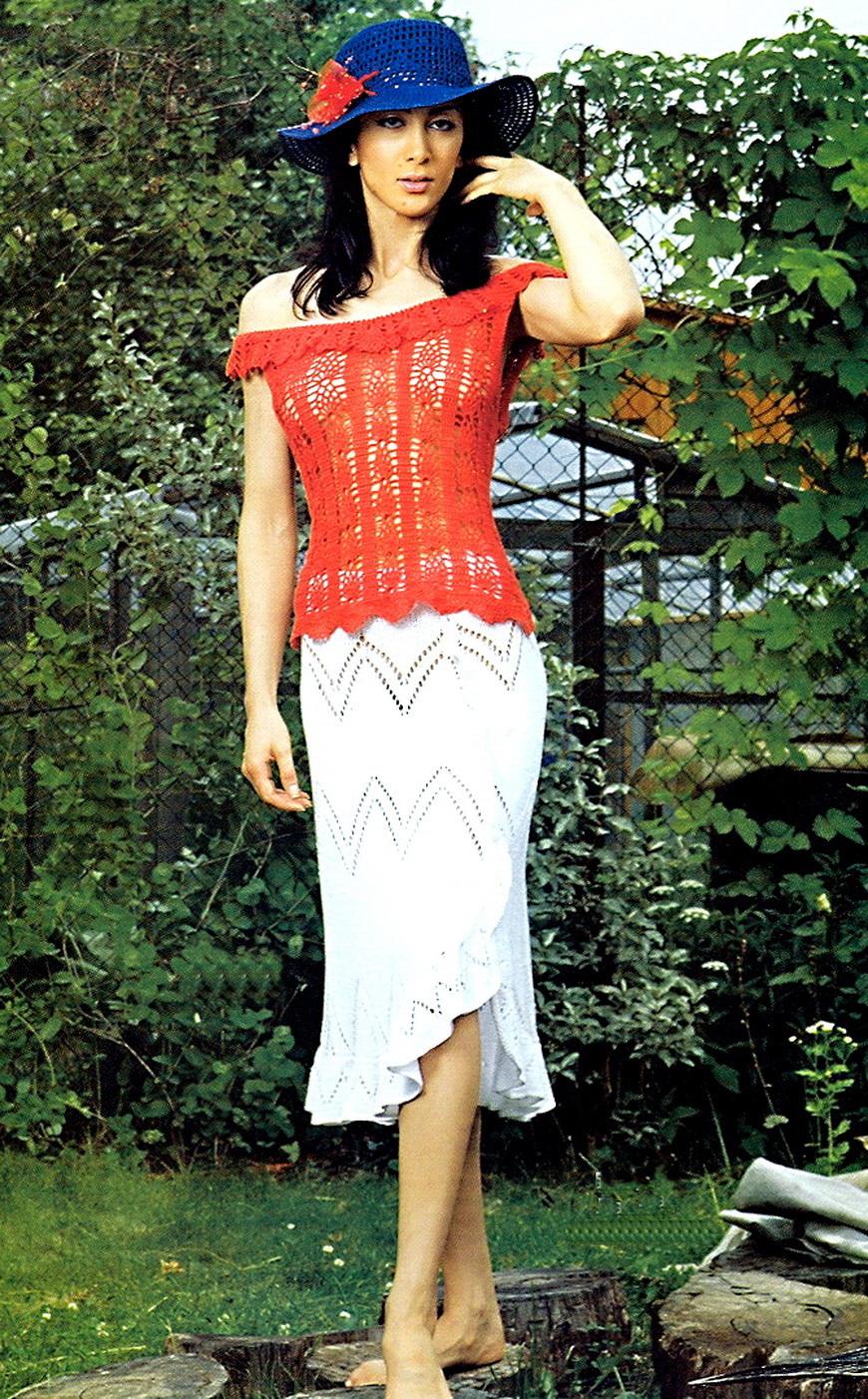 Описание: вязание спицами юбки схемы - Футболки.