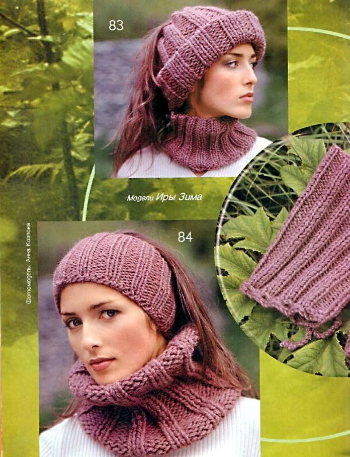 вязание ободка со спицами