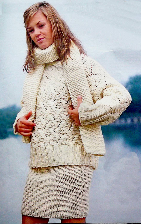 вязанные юбки на бретельках спицами со схемами 2013 зима