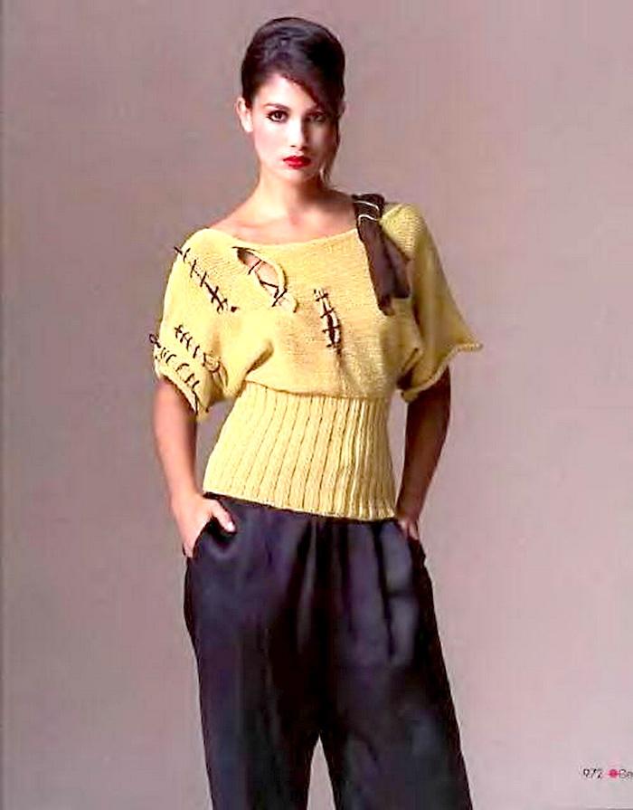 Описание: вязание на спицах модели женских кофточек полуверов, вязаные...