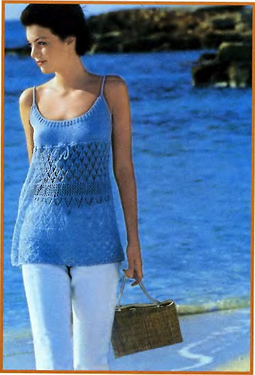 Схемы вязания. Вязание модного платья