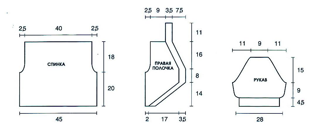Меховое болеро для девочки 86-92 сшить выкройка 44