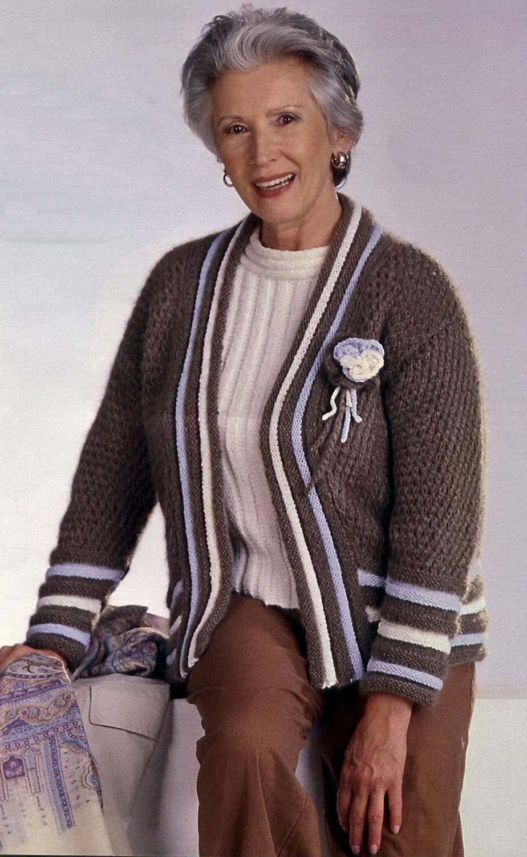 Вязание спицами для женщин пожилого возраста с описанием