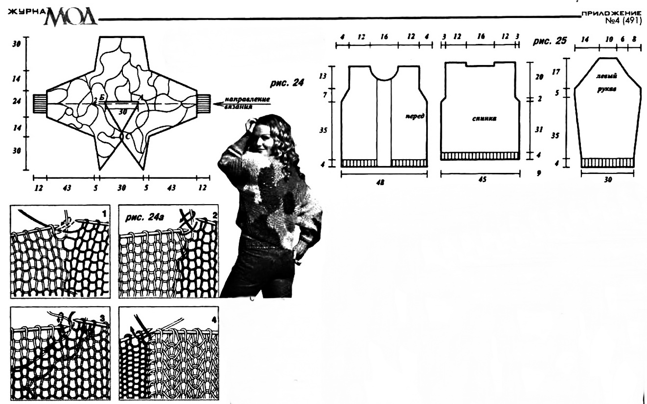 Модели вязания крючком из журнала ирэн
