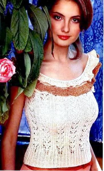 ажурное вязание спицами модели