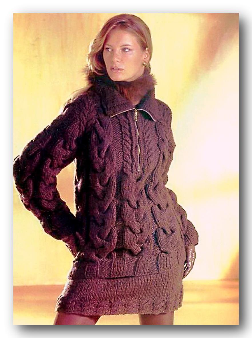 вязание спицами для женщин полувера схемы и фото