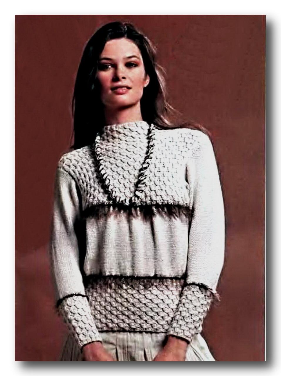 Играй со мной: Схема вязания свитера спицами.