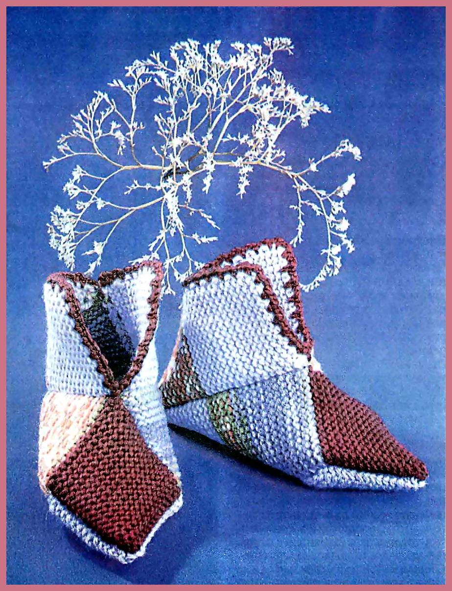 тапочки схемы вязания на спицах