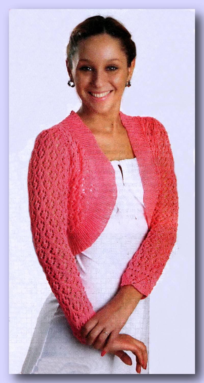 Схема вязания болеро спицами - Мир женщины.  Главная Рукоделие Вязаные.