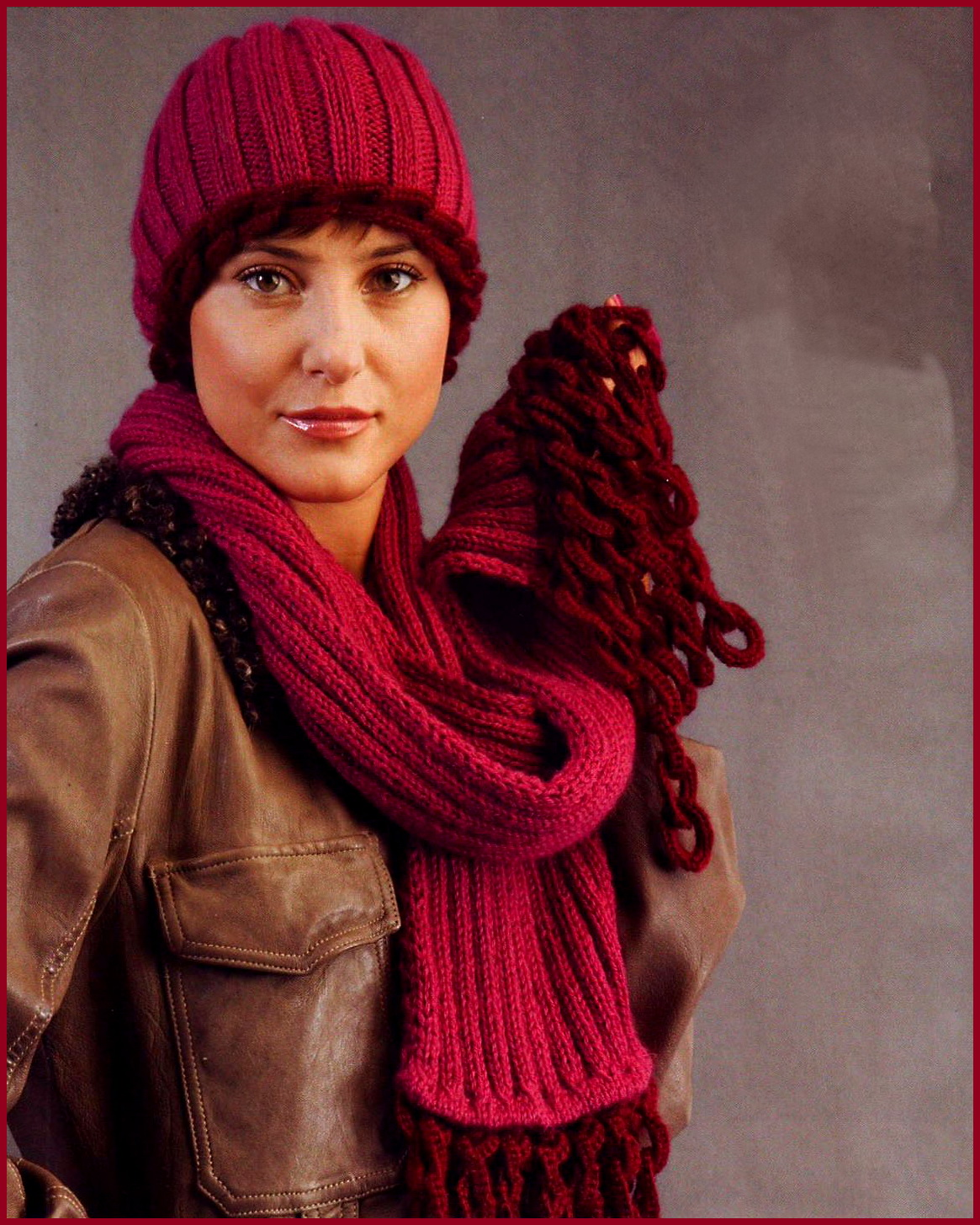 Вязание спицами шапка и шарф для женщин спицами
