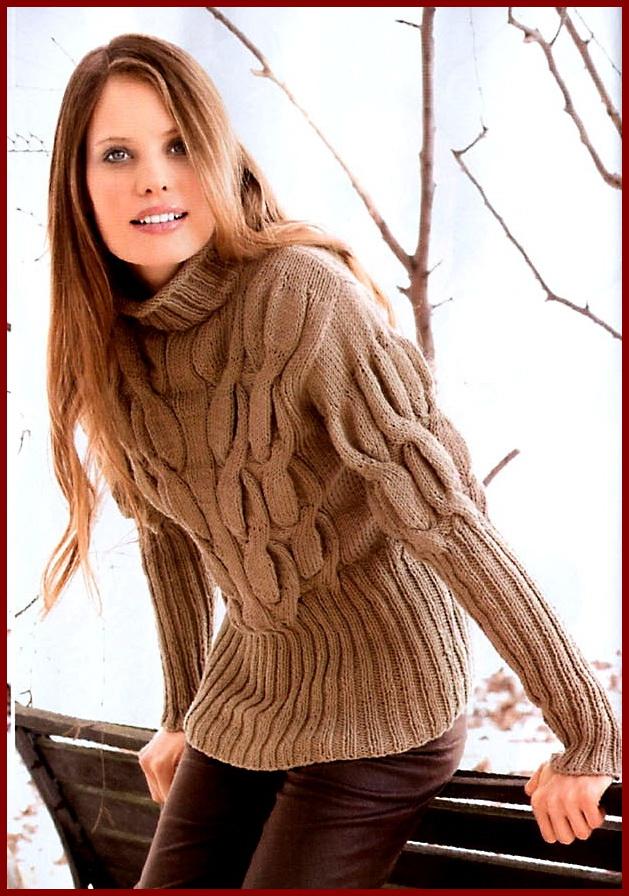 Связать свитер женский с