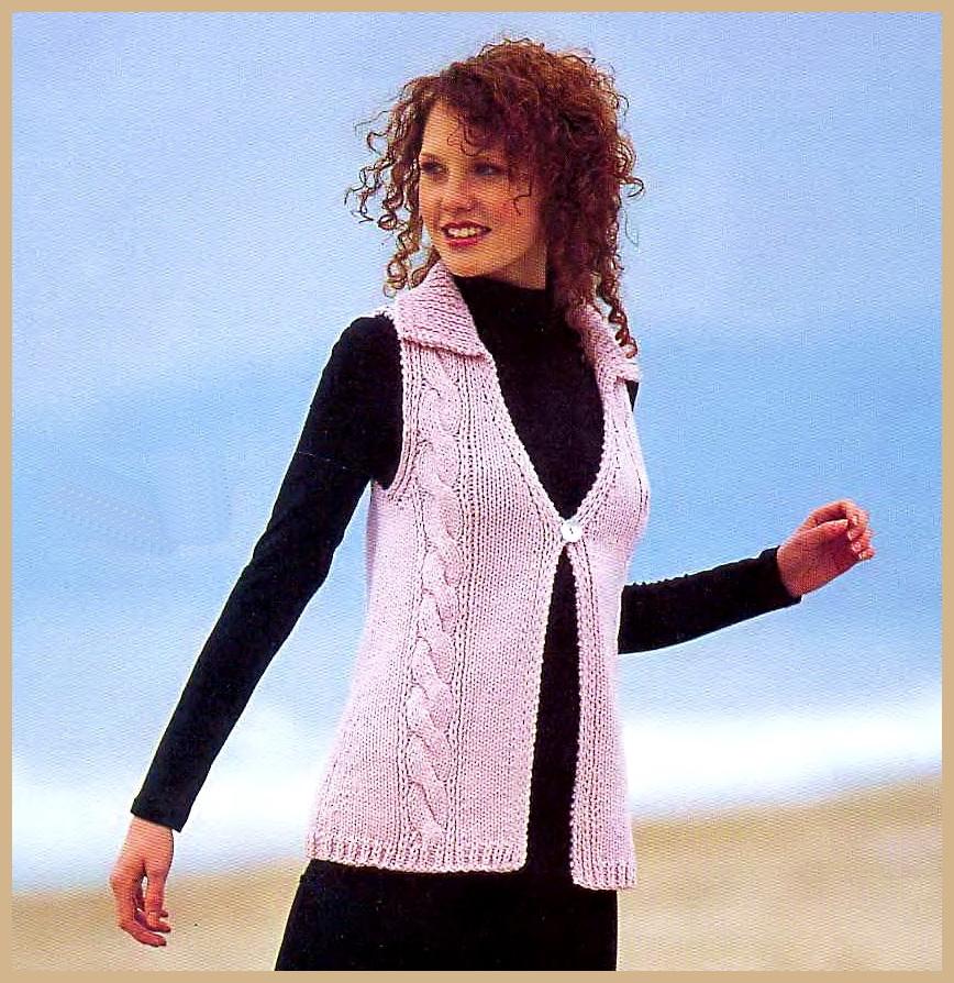 Комментарий: вязаные жилетки женские схема вязания.
