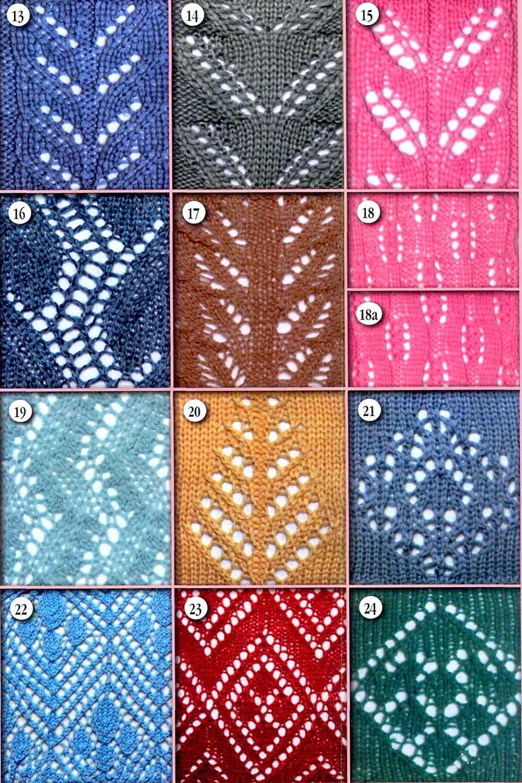 Схемы рисунки вязания на спицах.