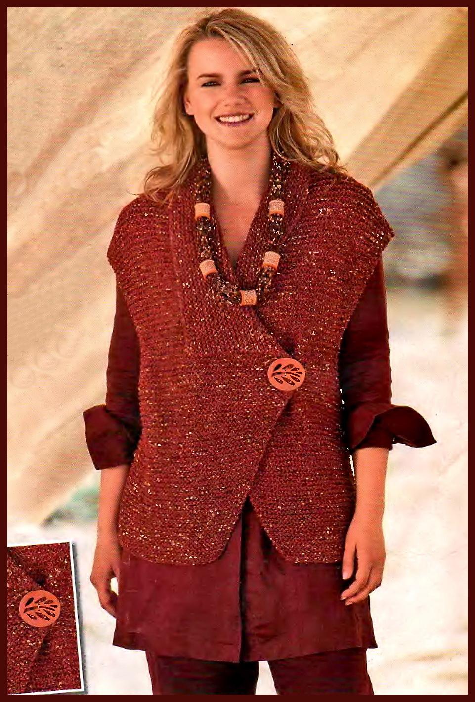 Комментарий: вязание спицами жилетов для женщин из.