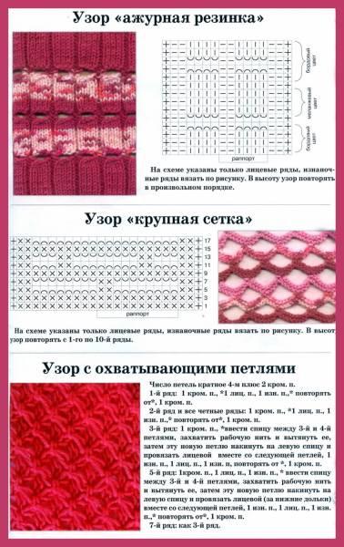 Схемы УЗОРОВ спицы.  Обновлён 3 апреля 2012.
