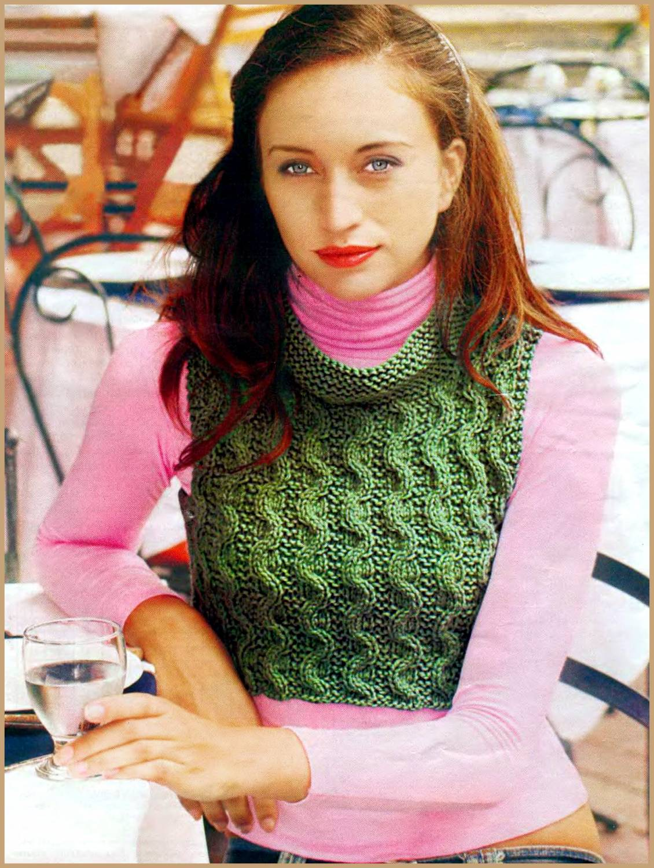 модели вязаной безрукавки со схемами вязания