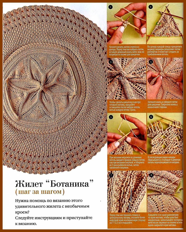 Вязание на спицах жилет ботаника