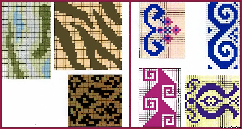 Вязание орнаментов с цветами 25
