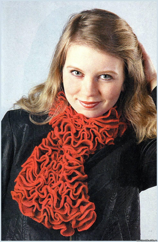 Рисунки для вязания спицами шарфа