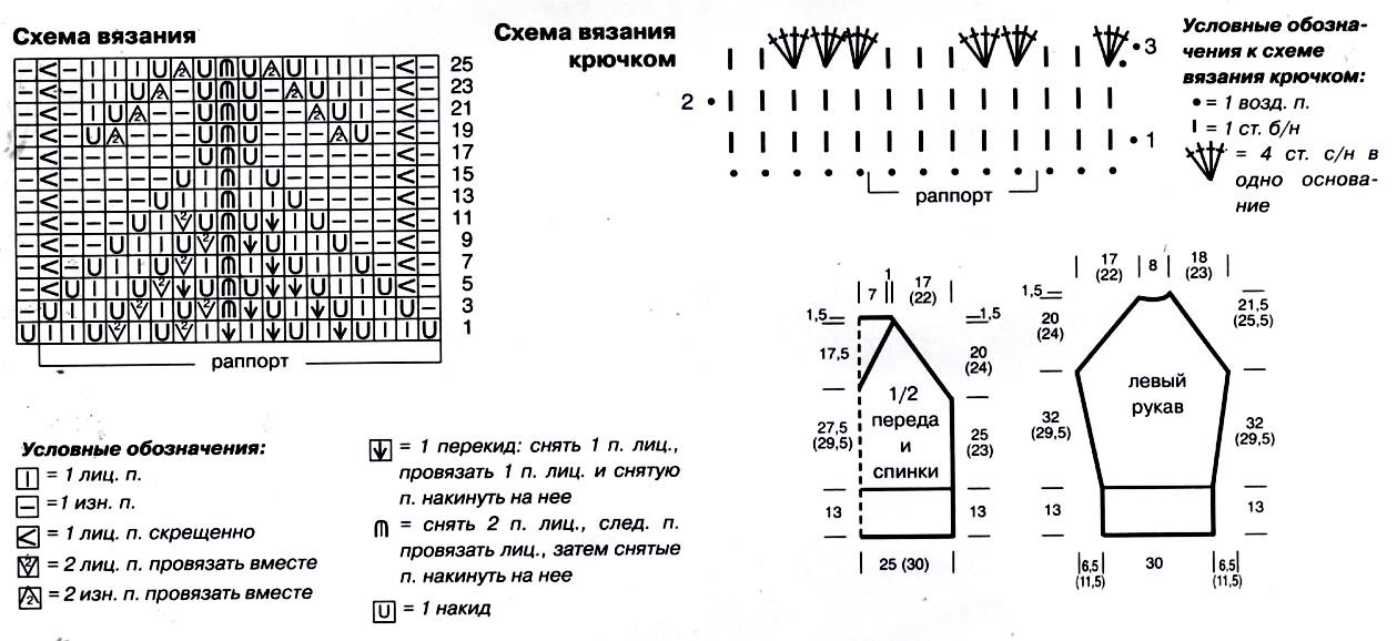 Свитера мейбл схема вязания 94