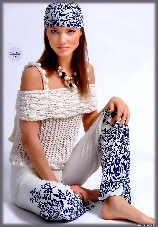 ажурное вязание спицами модели и схемы