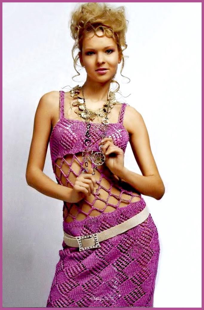 Вязание спицами сарафана