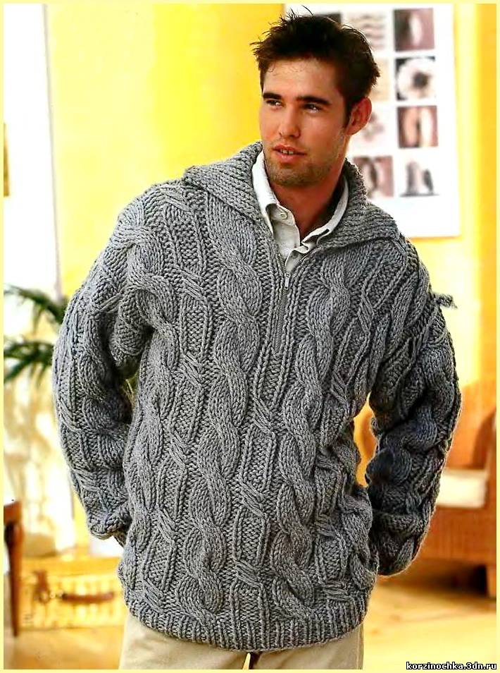 вязание для мужчин модные модели
