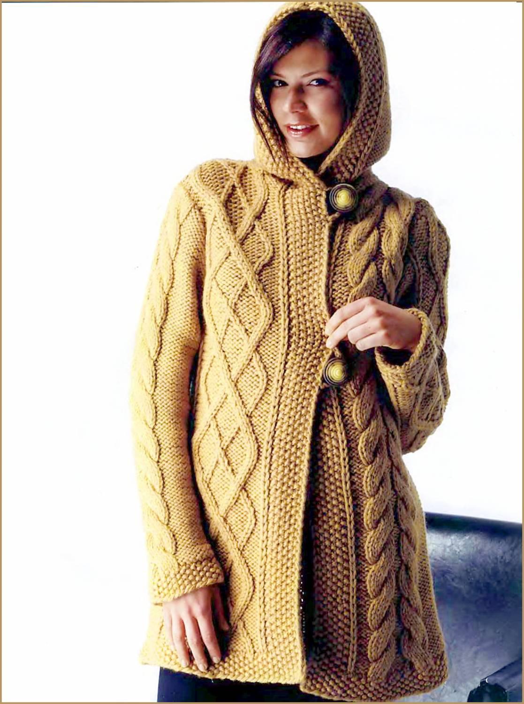 Описание Вязание женского пальто. вязанные жакеты схемы для вязания