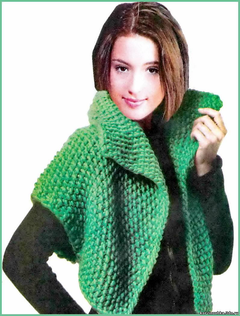 Молодежный жакет вязание спицами 229
