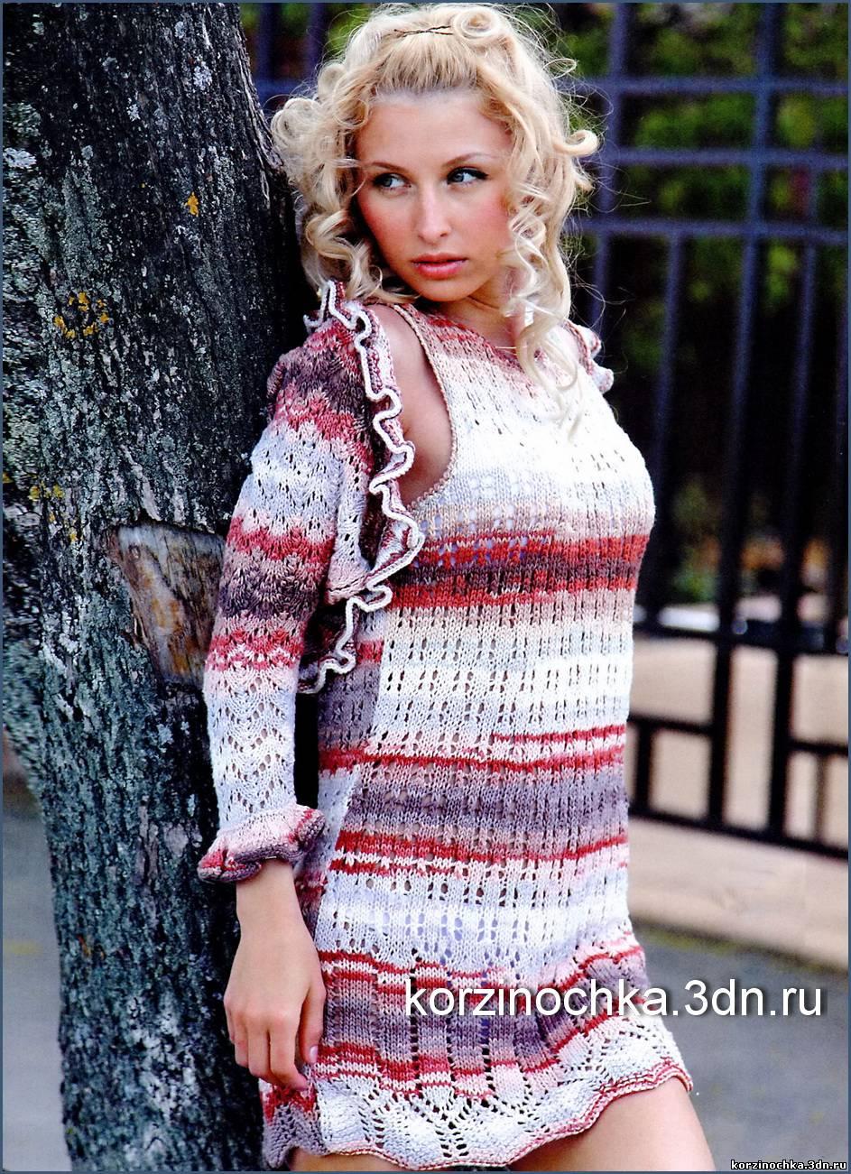 Вязание на спицах платье и болеро