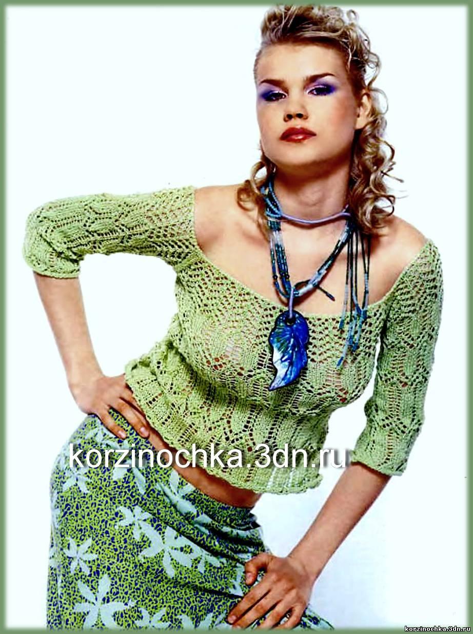Вязаные Ажурные Блузки В Красноярске