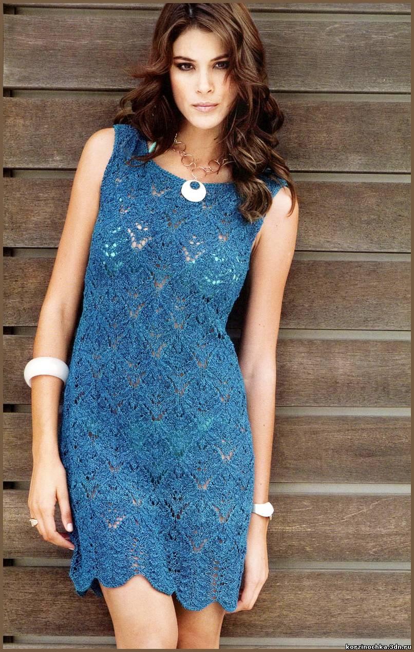 модели вязанные платья из шерсти крючком схемы