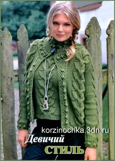 Вязаный пуловер спицами, схема вязания пуловера.  Это цитата сообщения.