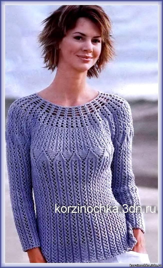 471c7f9f5f4 Вязание спицами летний пуловер - Вязание спицами