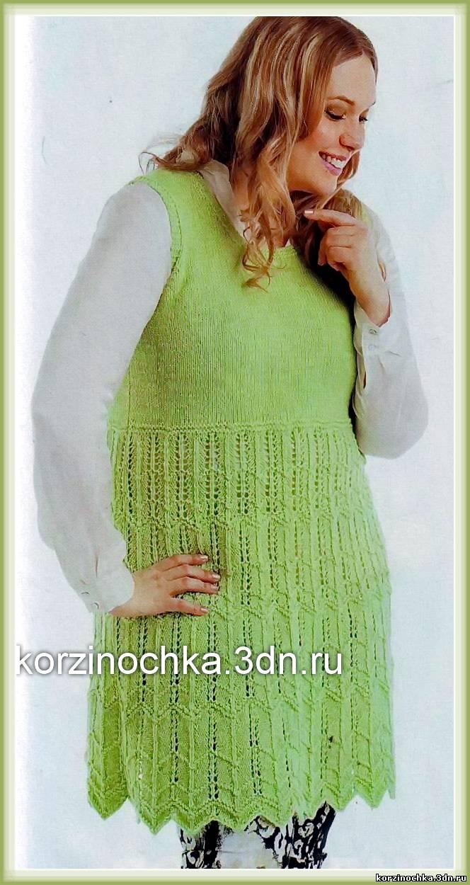 Вязание свитера модного спицами 81