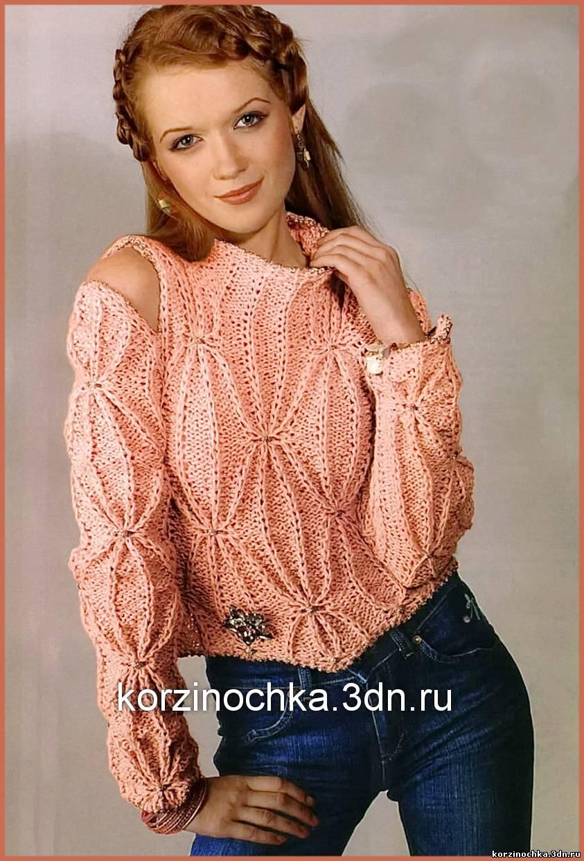 вязание свитера спицами вязание спицами модели и схемы для