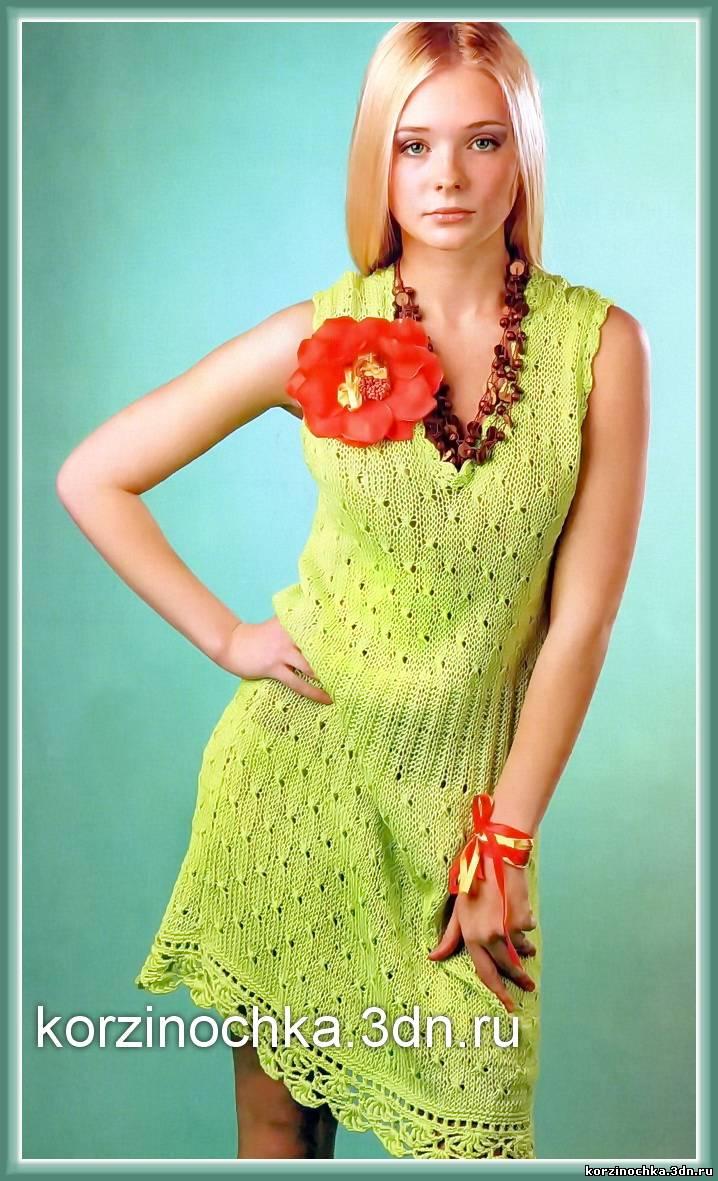 Связать летнее платье спицами новые модели