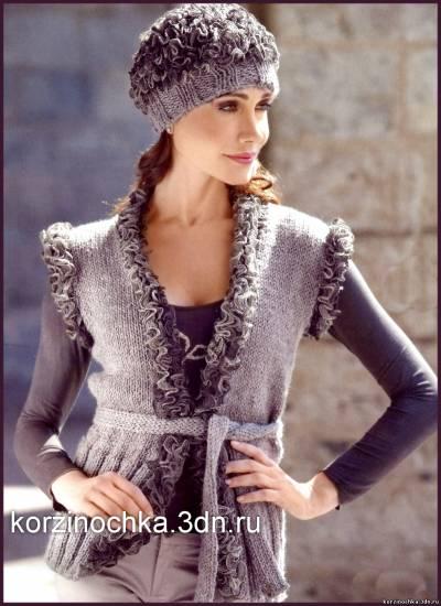 Модели вязания теплых кардиганов Женское пальто и кардиган спицами или крючком