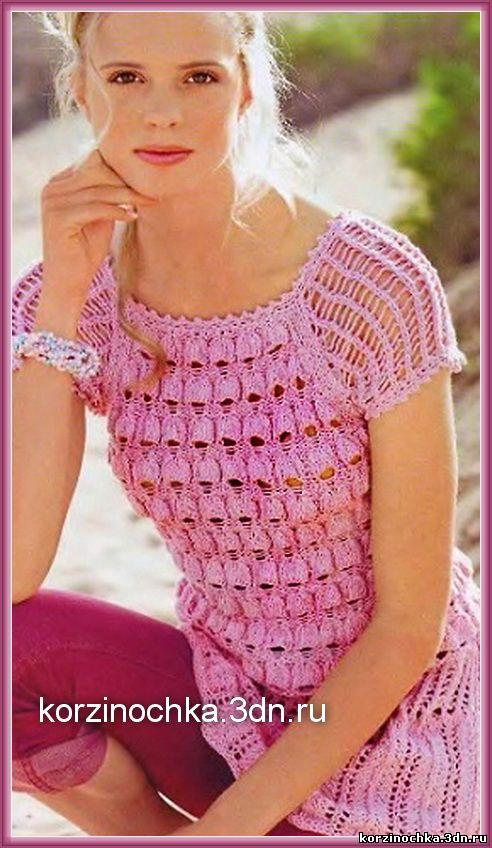 Модные схемы вязания для женщин года с описанием 68