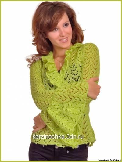 Вязание модели из шелка