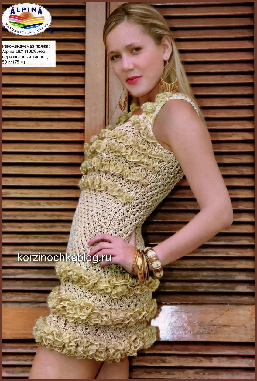 вязание на спицах платья вязание спицами модели и схемы для