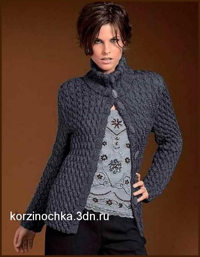 Вязание спицами жакетов - Вязание спицами, модели и схемы ...